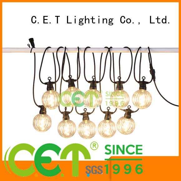 C.ET premium quality patio string lights for backyard party