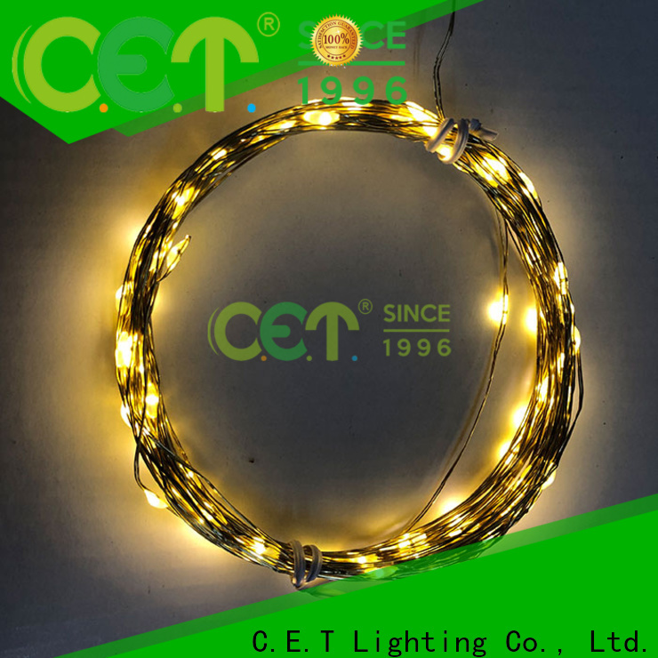 C.ET led copper string lights factory price for outdoor party