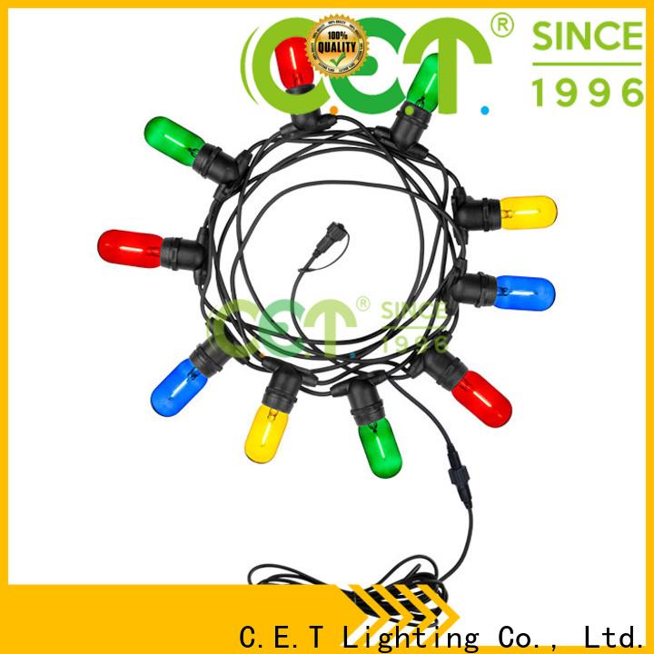 C.ET good selling patio string lights manufacturer for garden party