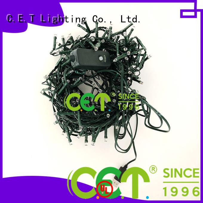 C.ET warm cluster Xmas tree lights for decoration