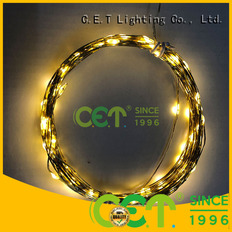 C.ET durable led wire lights factory price for outdoor party