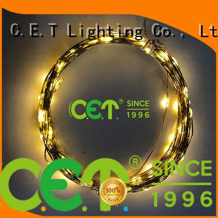C.ET durable copper wire led string lights for bedroom