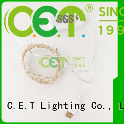 C.ET led fairy lights factory price for bedroom