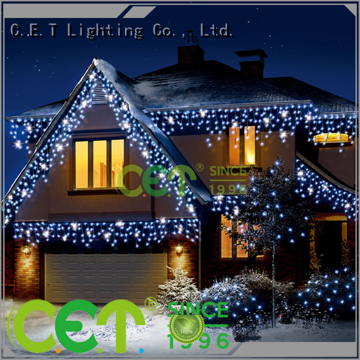 outdoor icicle lights decoration for party