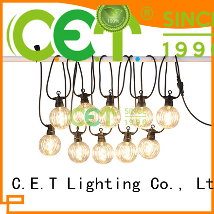 C.ET premium quality patio string lights for backyard party