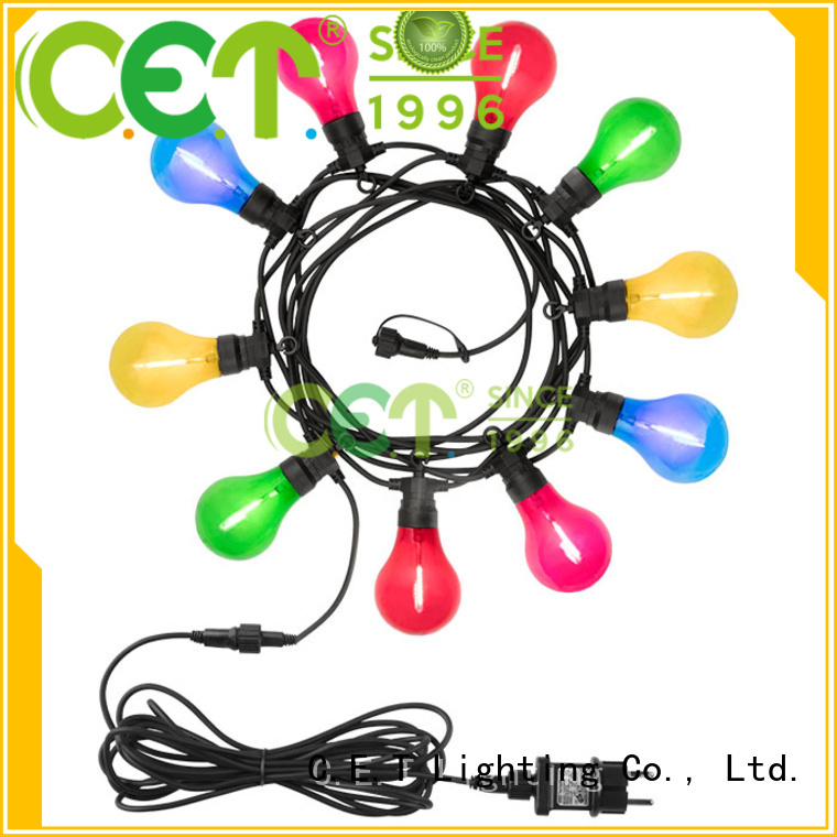 C.ET good selling patio string lights customization for backyard party