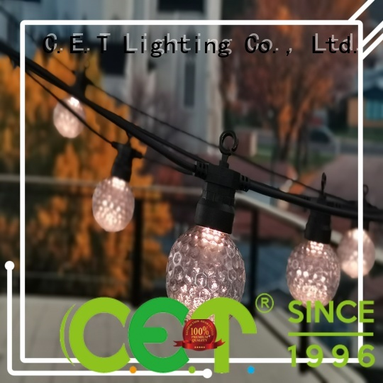 C.ET premium quality patio string lights customization for backyard party