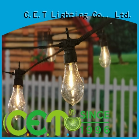 C.ET good selling patio string lights manufacturer for party
