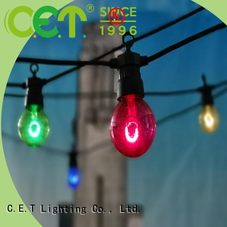 C.ET patio string lights manufacturer for garden party
