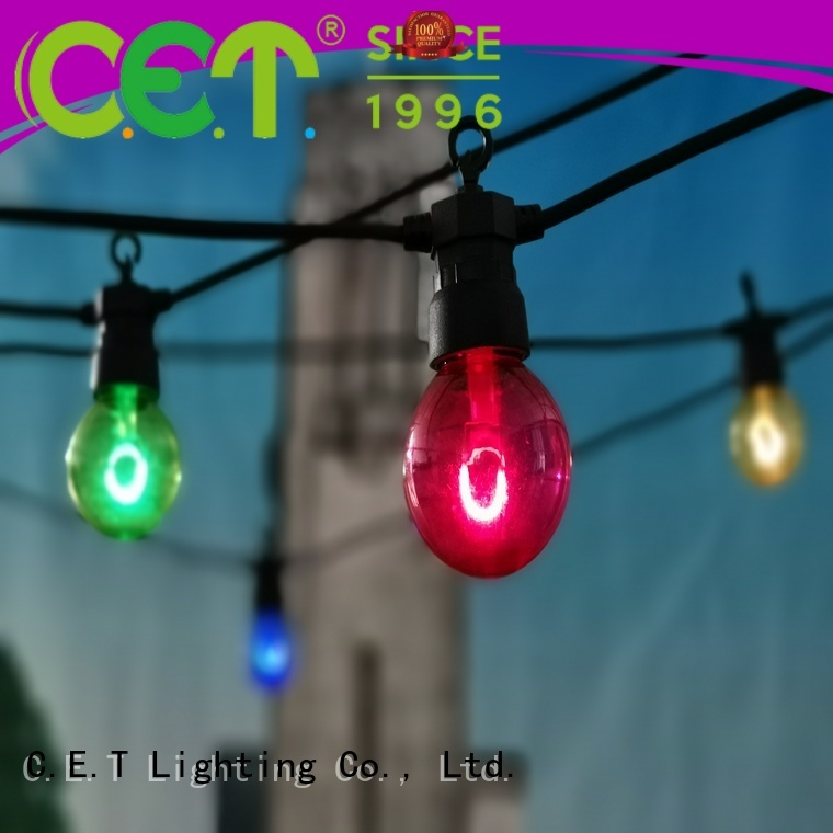 C.ET premium quality patio string lights customization for party