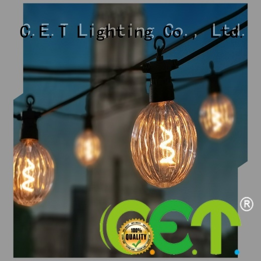 C.ET party patio light customization for backyard party